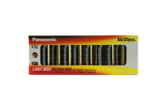 Panasonic 20 Pack Aa Alkaline Battery
