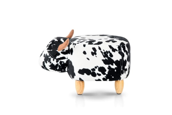 Kids Cow Animal Stool (Black/White)