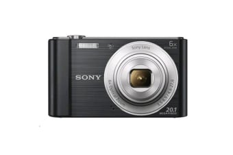 Sony Cyber-shot DSCW810 Digital Camera (Black)  20.1 megapixels plus 6x optical zoom