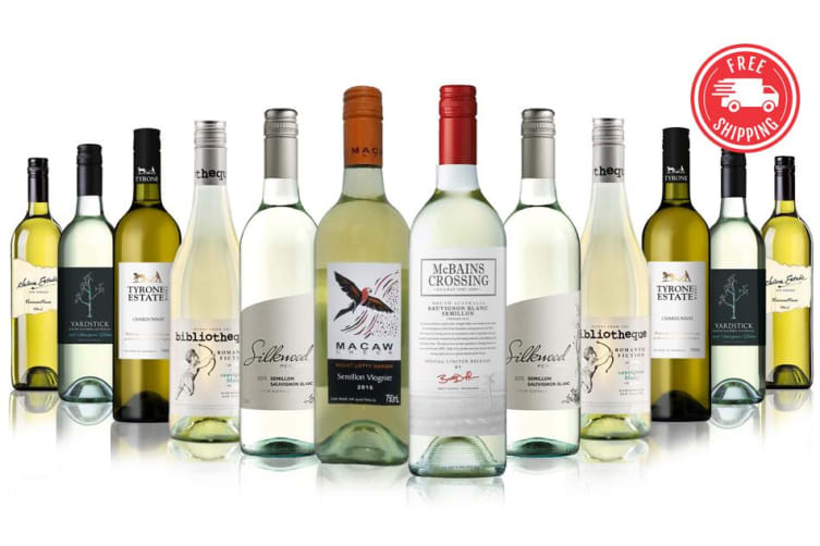 Bestsellers Premium White Mixed feat. wines from 4.5 Star rated winery - 12 Bottles