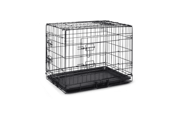 "30"" Portable Pet Dog Cage Collapsible Metal Crate Kennel"