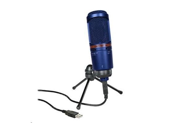 Audio-Technica AT2020USB+BL Condenser Microphone with USB Output - Blue