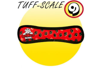 VIP Tuffy Ultimate Bone Dog Toy (Red Paw)