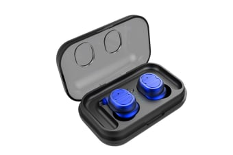 Sweatproof Earpiece Noise Cancelling Sports Earphones For Workout And Running Blue