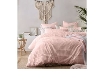 Betty Blush Washed Cotton Quilt Cover Set by Vintage Design Homewares