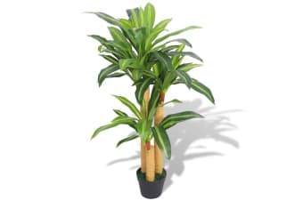 vidaXL Artificial Dracaena Plant with Pot 100 cm Green