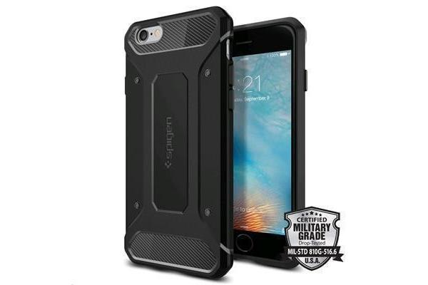 "Spigen iPhone 6s/6 (4.7"") Rugged Armor Case-Black"