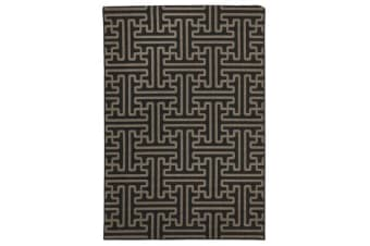 Seville Geo Charcoal Outdoor Rug