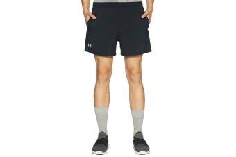 "Under Armour Men's Launch 5"" Shorts (Black/Reflective)"