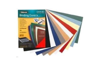 Fellowes Cover Black 100 Pack A4 Textured Binding 300 GSM