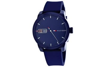 Tommy Hilfiger Men's Classic Watch (Blue Dial, Silicone Strap)