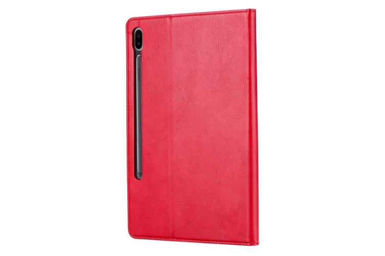 For Samsung Galaxy Tab S6 Case  Wallet PU Leather Flip Cover  Red