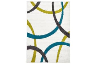 Brooklyn Shag Rug White 230x160cm