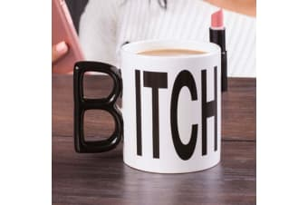 The `Itch` Mug |  `B` Handle on the Side & `Itch` on the Front, Spells...