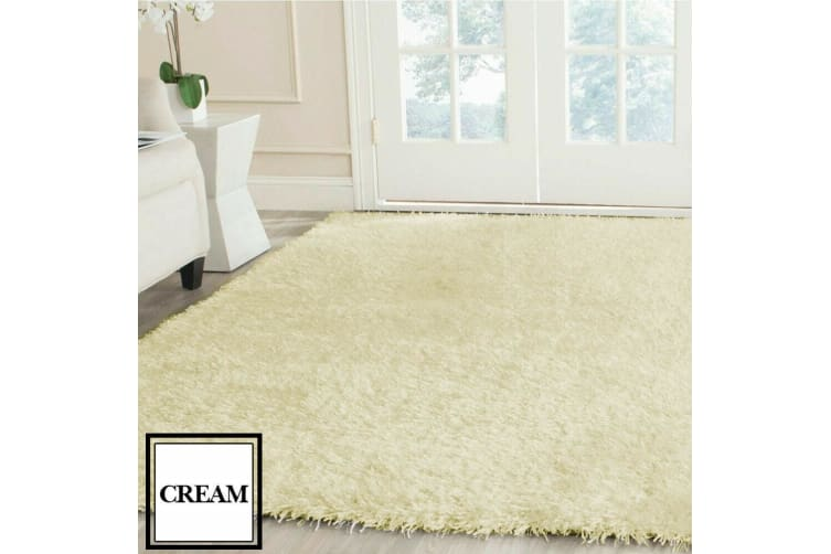 New Designer Shag Shaggy Floor Confetti Rug Carpet ALL SIZE Fast Delivery  -  Coffee200x230cm