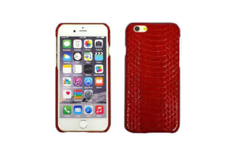 For iPhone 6S 6 Case Genuine Python Snake Skin Leather Shielding Cover Red