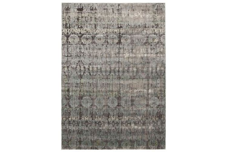 Fluid Nights Modern Blue Rug 330x240cm