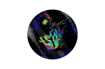 Unorthodox Collective Rainbow Cat Circular Glass Chopping Board (Multicoloured) (One Size)