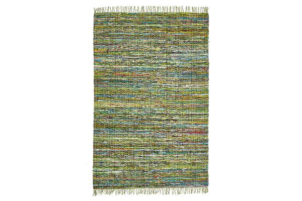 Primal Chindi Cotton Rug Green 220x150cm