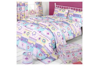 Mucky Fingers Childrens Patchwork Duvet Cover Bedding Set (Patchwork)
