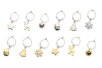 Amalfi Xmas Wine Charms Set of 6 Assorted Colours