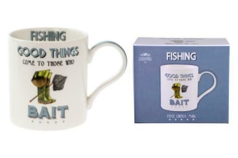 Coffee Mug Tea Cup Novelty Cup Gift Fishing Fish Bait funny humour 350ml