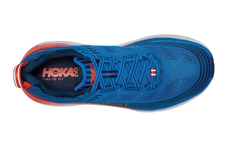 Hoka One One Men's Bondi 6 Running Shoe (Imperial Blue/Majolica Blue, Size 9)