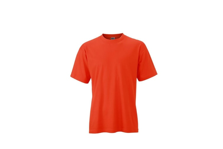 James and Nicholson Unisex Heavy Round Tee (Grenadine) (4XL)