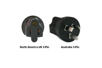 InLine North America US 3-pin to Australia Power Adapter Plug