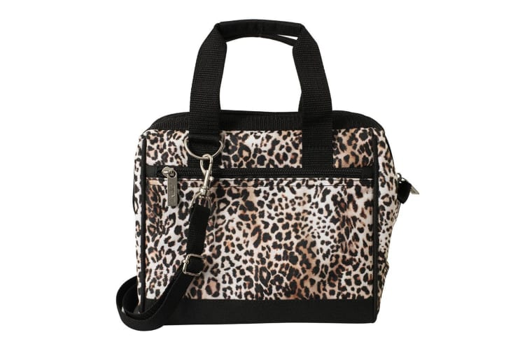 Avanti Insulated Lunch Food Box Picnic Storage Portable Travel Carry Bag Leopard