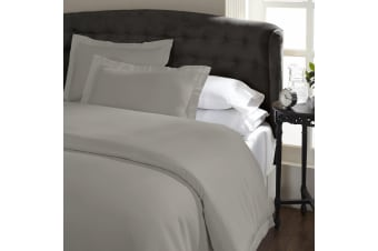 Ddecor Home 1000 Thread Count Quilt Cover Set Cotton Blend Classic Hotel Style - Queen - Silver