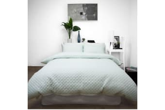 Bath Quilted Embossed Quilt Cover Set KING