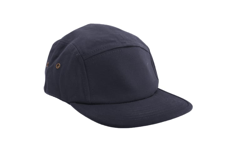 Beechfield Canvas 5 Panel Classic Baseball Cap (Pack of 2) (Navy) (One Size)