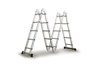 Bullet 5.8m Multipurpose Ladder Aluminium Extension Folding Adjustable Step