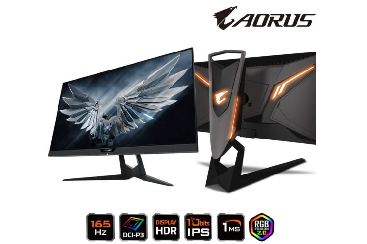 Gigabyte AORUS FI27Q-P 27' Tactical Gaming Monitor HDR 165Hz 1ms FreeSync G-Sync