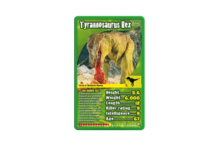 Top Trumps Biggest Bite Dinosaurs Educational Card Game 6y+ Family/Kids/Adult