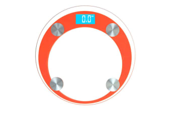SOGA 180kg Digital Fitness Weight Bathroom Gym Body Glass LCD Electronic Scales Orange