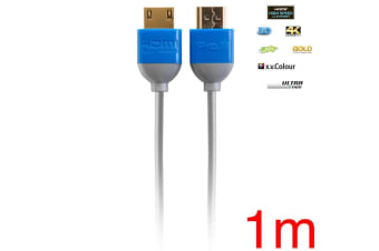 Pro2 Ultra Thin 1m HDMI Cable 2K 4K 3D Lead for DVD Blu-ray TV Game AV