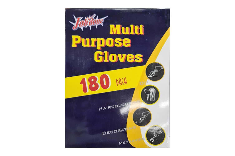 180pc Multi Purpose One Size Disposable Polyethylene Gloves f/ Cooking/Painting