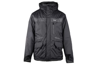 Caterpillar Mens Night Flash Workwear Reflective Jacket (Black)