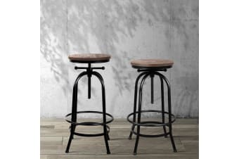 1x Kitchen Bar Stools Vintage Bar Stool Retro Industrial Chairs