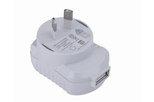 Astrotek USB Travel Wall Charger Power Adapter AU Plug 1A 220V 1 Port White Colour for Samsung & USB Devices