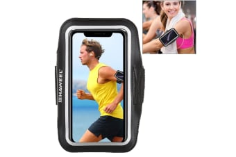 For Samsung S10 PLUS & iPhone XS MAX Case Black PVC Leather Sports Armband