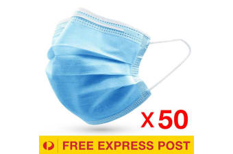 50 Pcs Disposable 3-Ply Face Mask Protective Meltblown AU for General Use
