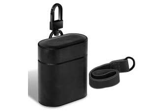 For Apple AirPods 1/2 Case Black Genuine Leather Protective Earphones Box