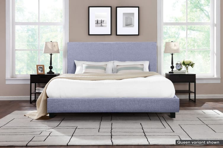 Shangri-La Bed Frame - Ravello Collection (Pewter Grey, Double)