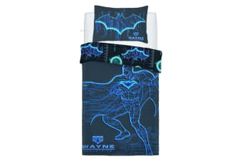 Batman Wayne Industries Panel Duvet Set (Blue)