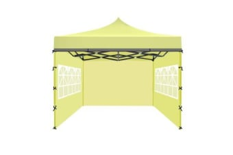 3x3m Party Pop Up Gazebo Marquee Canopy Folding Tent BEIGE