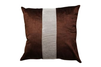 Panache Eclat Diamante Strip Cushion Cover In 8 Colours (Cushion Pad Not Included) (Chocolate)