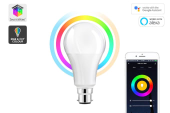 Kogan SmarterHome™10W RGB + CCT Colour & Warm/Cool White Smart Bulb (B22)